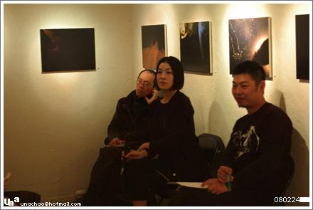 楊文卿老師、陳珊妮、策展人:林盟山。