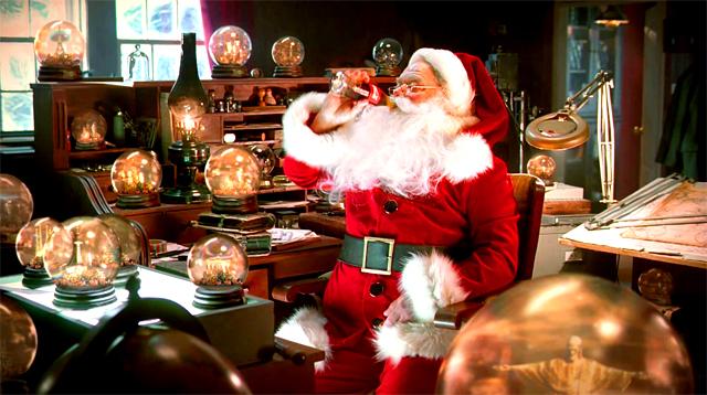 Papá Noel bebiendo Coca-Cola