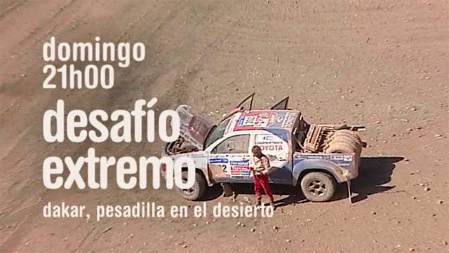Imagen de la Promo Cuatro Desafío Extremo Dakar, pesadilla en el desierto 5ª Semana Enero 2011 con Jesús Calleja