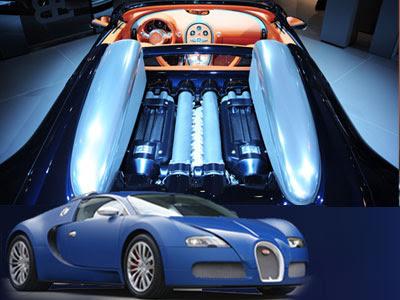 Bugatti Veyron Engine Design. 2009 Veyron Centenary Bugatti