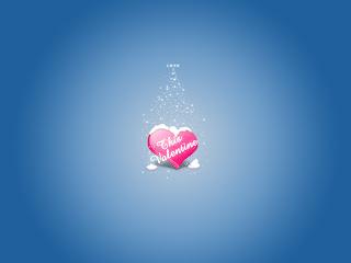 Valentines Day Blue Love Wallpaper
