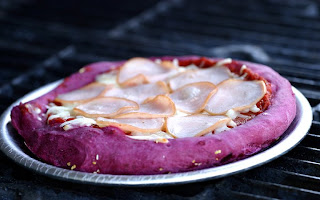Purple pizza from The Cooking Photographer