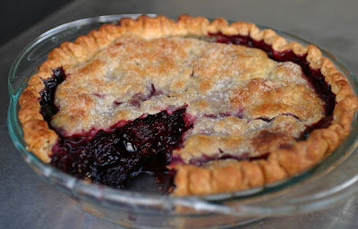 Marion Berry Pie with Disaronno Liqueur