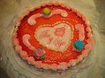 Mi tarta de San Valentin.