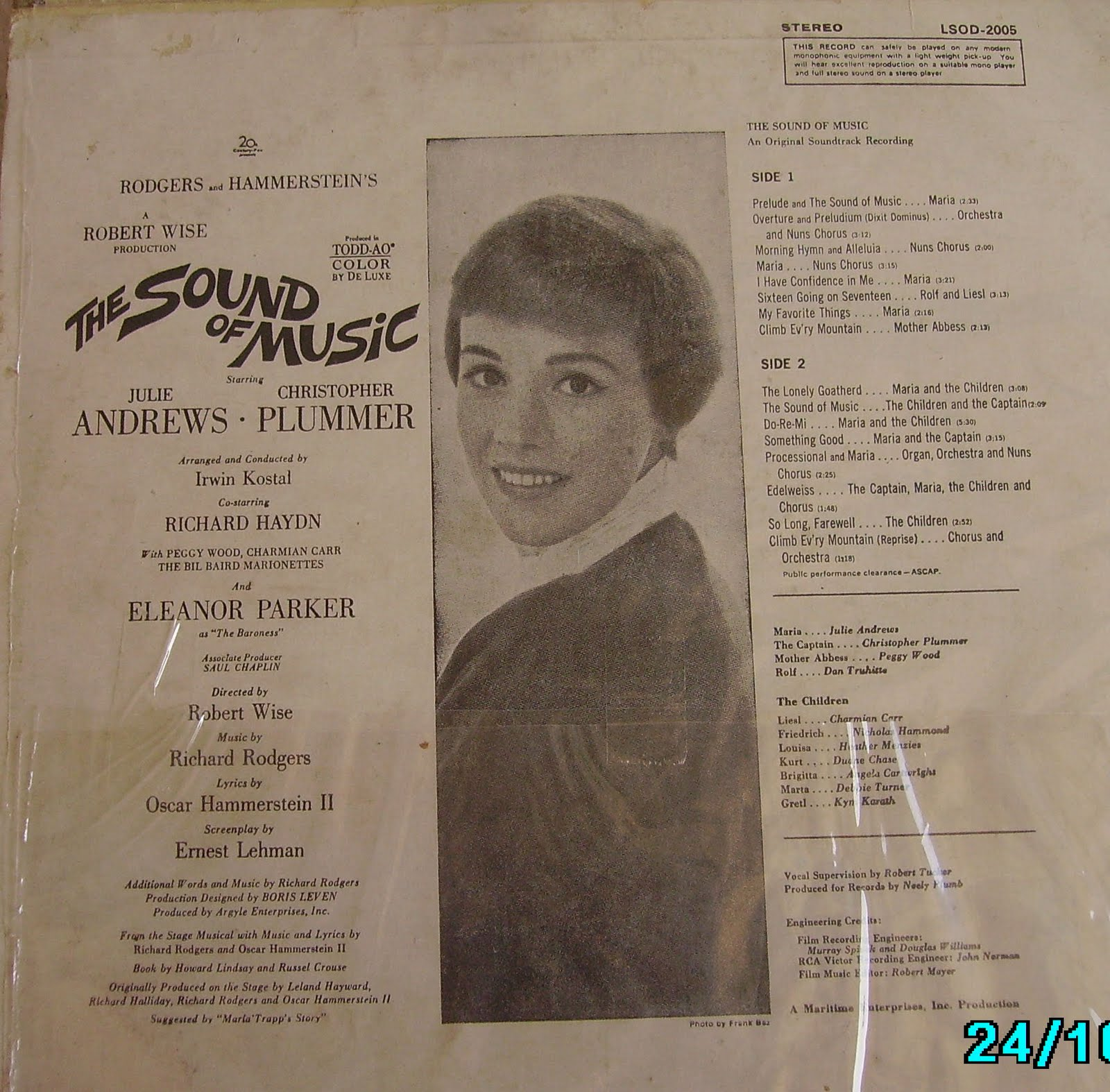 Jay's world of Music: Julie Andrews and the Sound of Music.