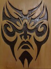 Tatuagem em madeira