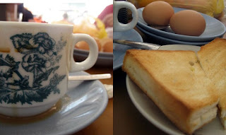 Toast Bread, Egg and Cham @ Seremban, Malaysia