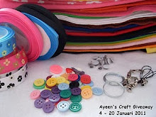 AYEEN'S CRAFT GIVEAWAY