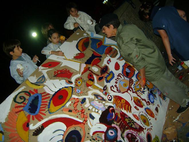 COLABORACIÓN   ARTISTICA  Invitada por el TALLER DE ARTE de la Escuela GALILEO GALILEI -Río Cuarto-