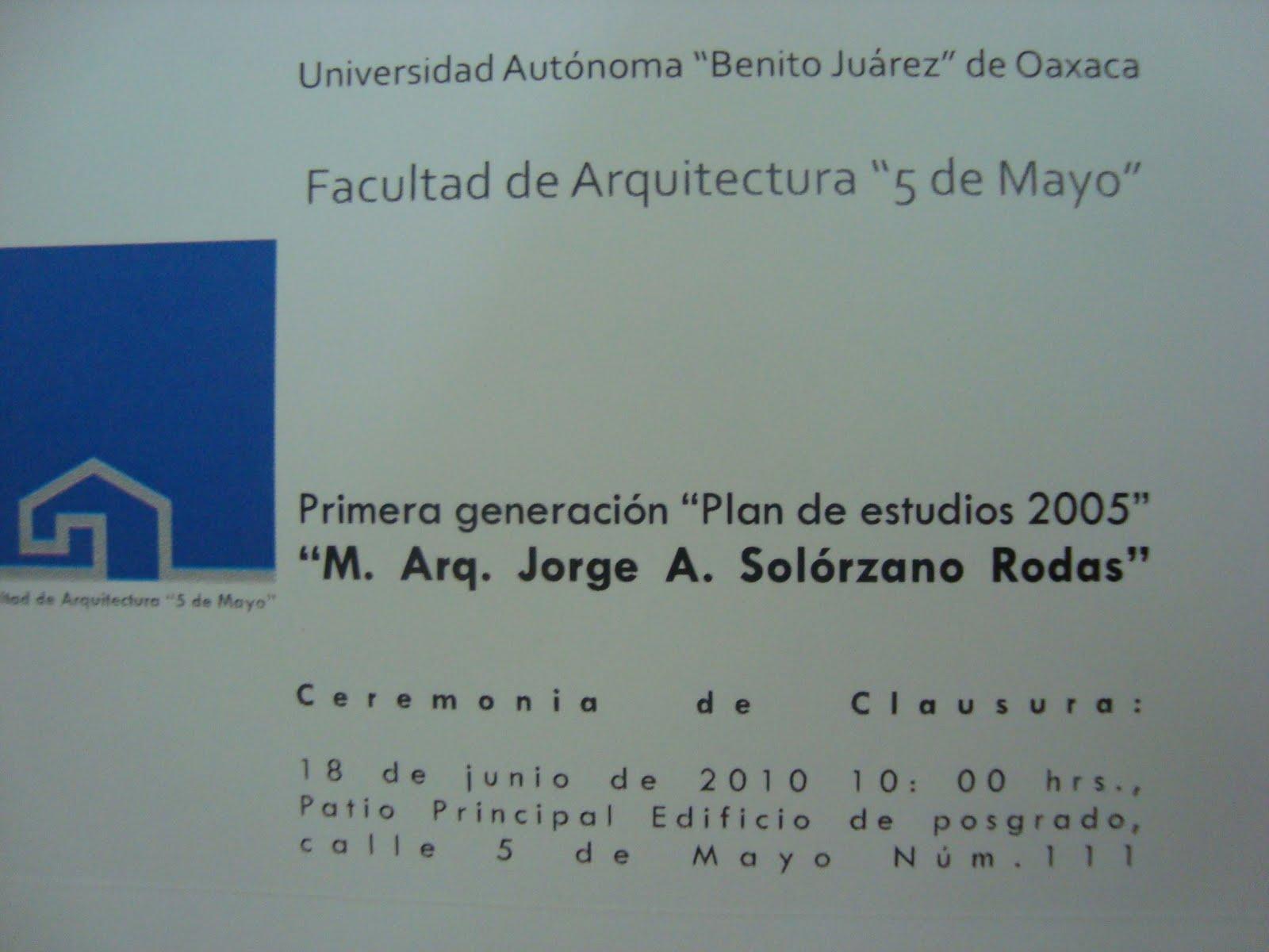 Facultad de arquitectura 5 de mayo de la uabjo for Arquitectura 5 de mayo plan de estudios