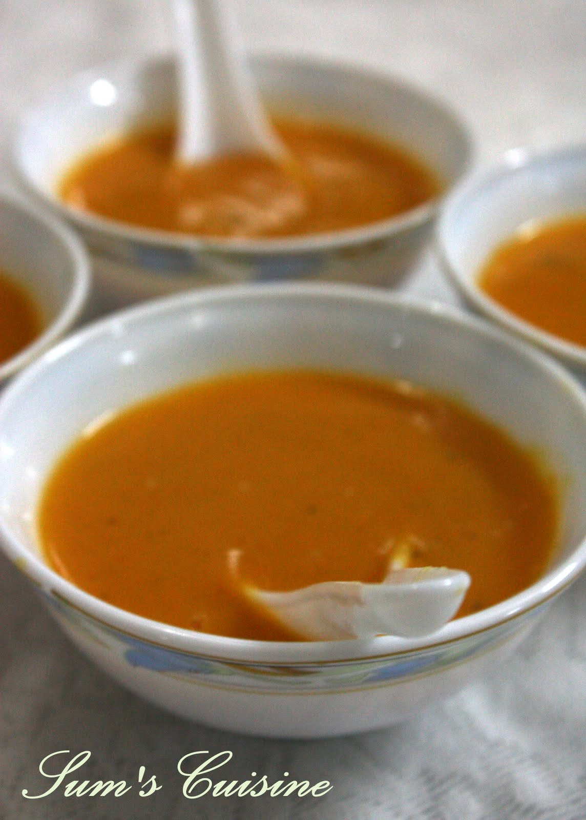 Carrot Ginger Soup With Chile Butter Recipe — Dishmaps