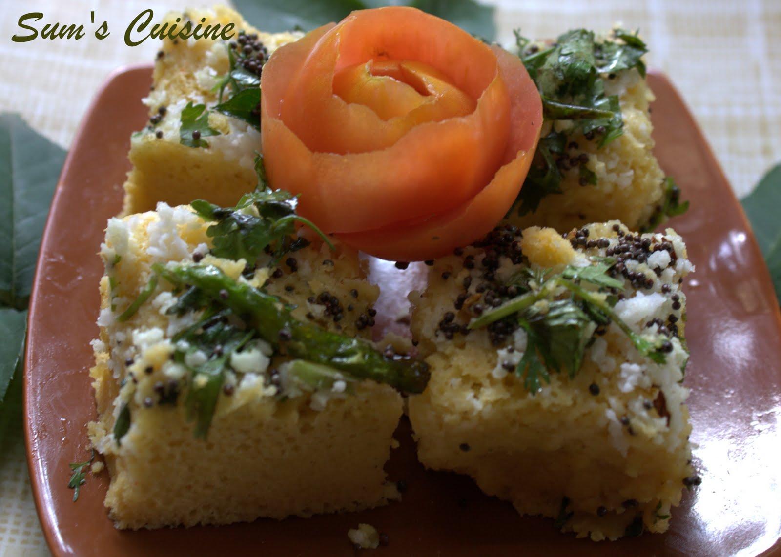Sum's cuisine: dhokla