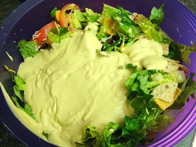 Krista's Kitchen: Mexican Salad with Creamy Avocado Dressing