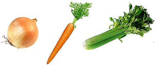 Onion, Carrot, Celery