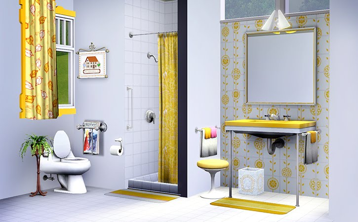 My sims 3 blog awesims mid mod bathroom set for the sims 3 for Bathroom ideas sims 3