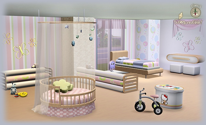 my sims 3 blog arcadia kids donation set. Black Bedroom Furniture Sets. Home Design Ideas