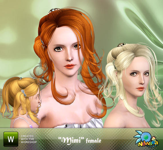 Molly Sims; sims 2 downloads hairstyles. Newsea Mimi Female Hairstyle by