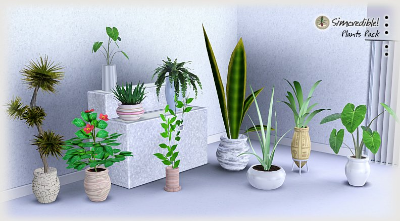 My sims 3 blog 10 new plants by simcredible designs for Indoor gardening sims 4