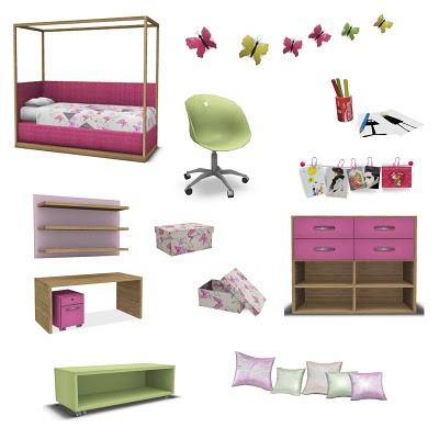 My Sims 3 Blog: Strawberry Shortcake Bedroom Set by Pilar