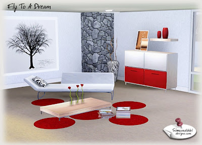 My sims 3 blog modern living room set at simcredible for Sims 3 living room ideas