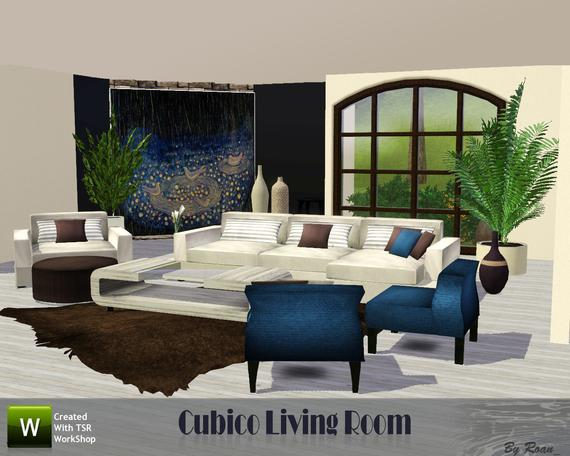 My sims 3 blog cubico living room by roan for Living room ideas sims 3