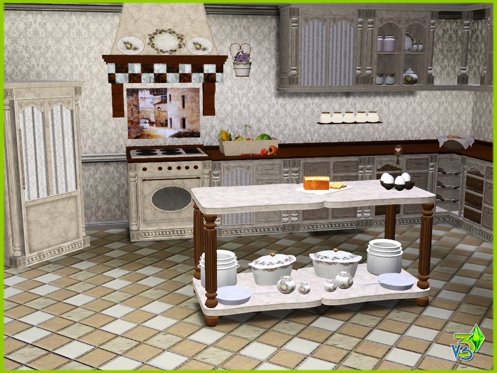 Sims 3 kitchen car interior design for Sims 3 kitchen designs