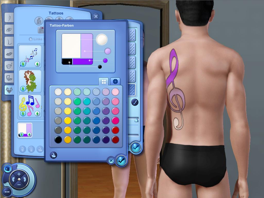 Music Note Tattoos for Ambitions by JoniBlair. Download at Mod The Sims