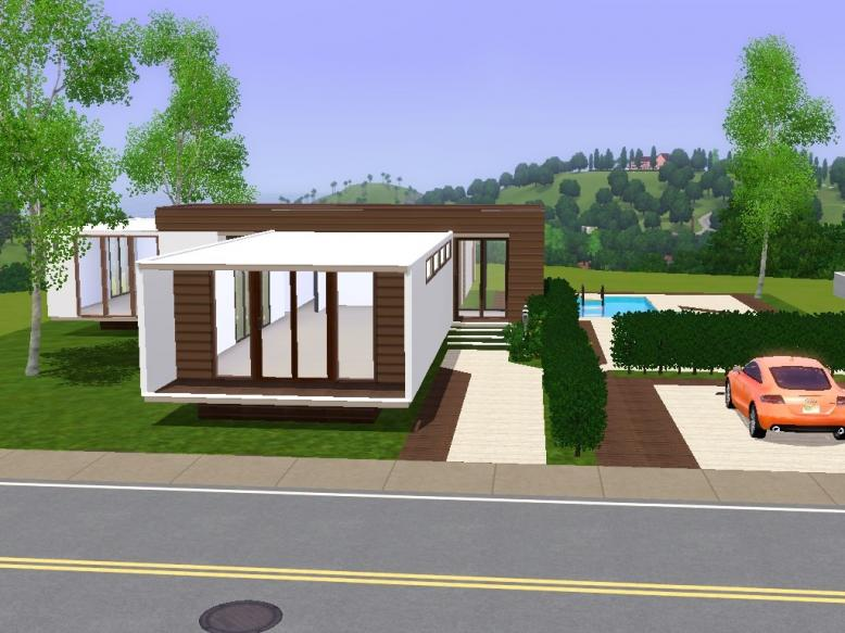 My sims 3 blog estrela modern lout by sims 3 modern houses for Minimalist house the sims 3