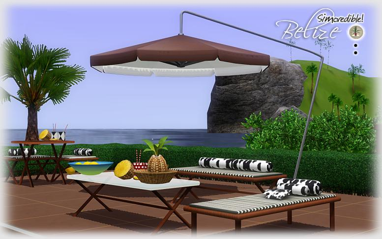 My Sims 3 Blog  Belize Outdoor Set by Simcredible Designs