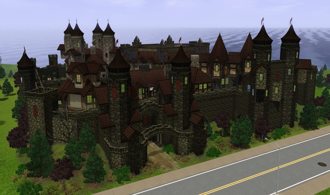 Autumn Castle Candle Town Series By on Minecraft Hogwarts Castle Floor Plan