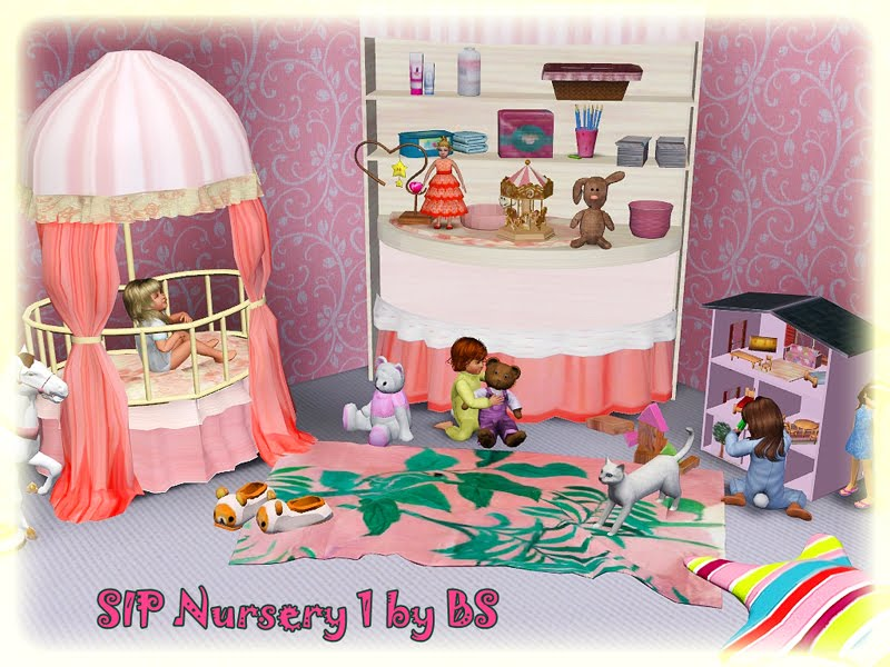 My Sims 3 Blog: Sims In Paris Nursery Set by Black Sweety