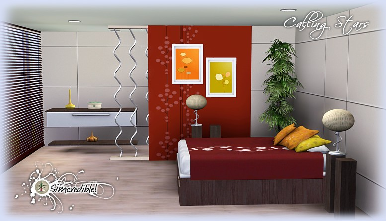 My sims 3 blog calling stars bedroom set by simcredible for Sims 3 bedroom designs