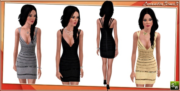 New Dress for Adult Females by Lore. Download at Lorandia Sims AF Clothing