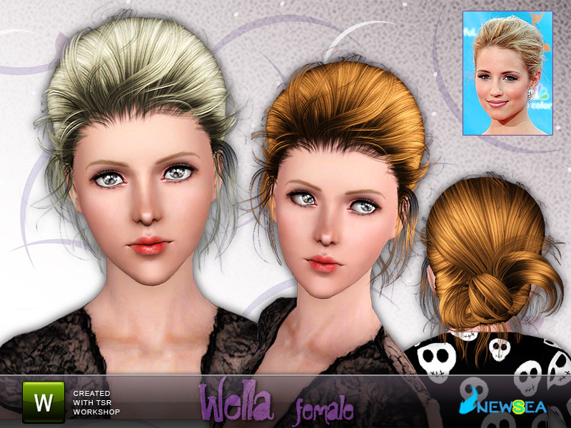 Newsea Wella Female Hairstyle. Download at The Sims Resource - Subscriber