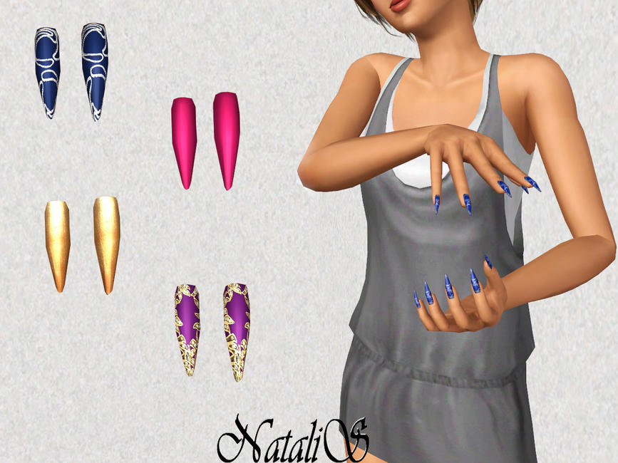 Natalis Stiletto Long Nails At The Sims Resource Free