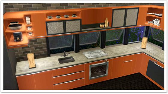 My Sims 3 Blog Horizon Kitchen And Kryptonite Living Set By Flem Shtinky