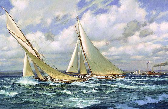 Puritan, sloop de 1885 Puritan_passing_genesta