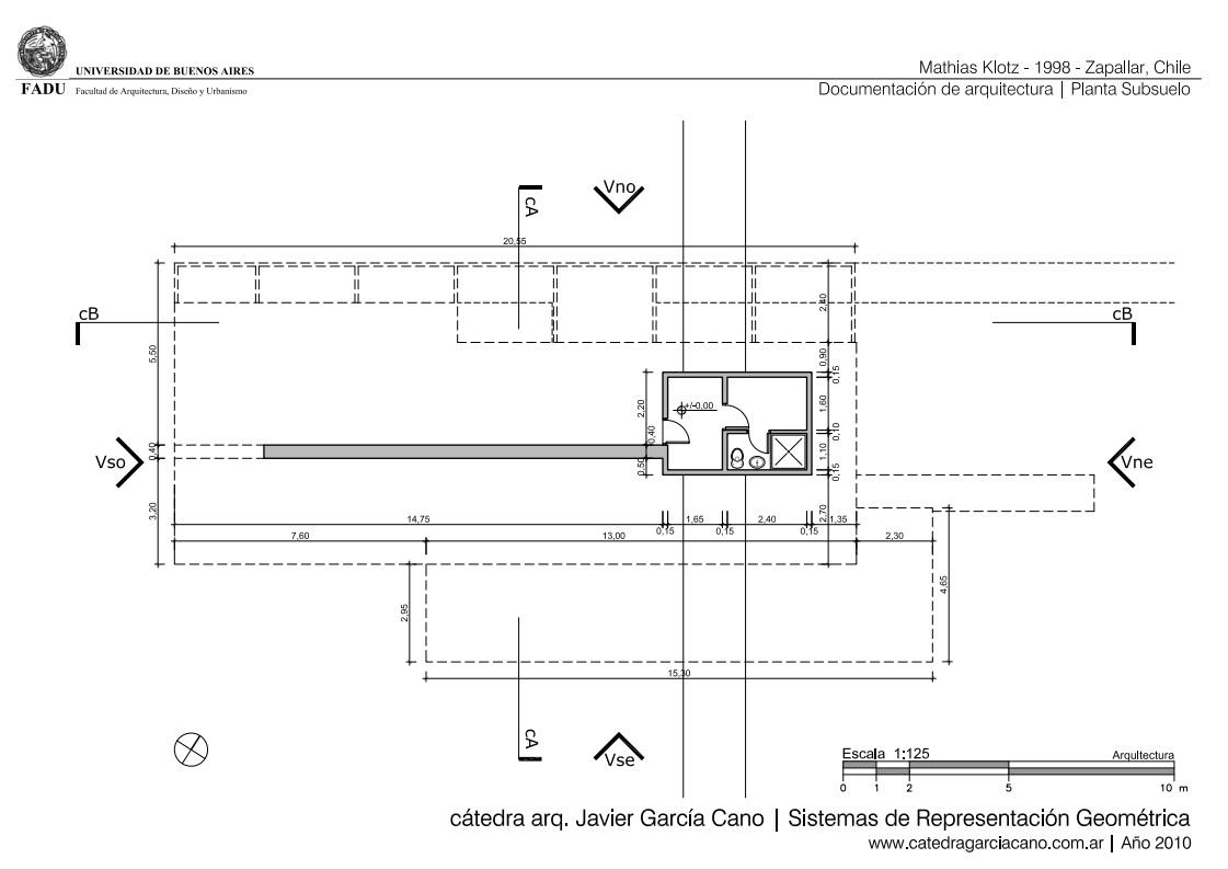 Esquema Baño Adaptado:Espacios: El proyecto se compone de dos volúmenes rectangulares que