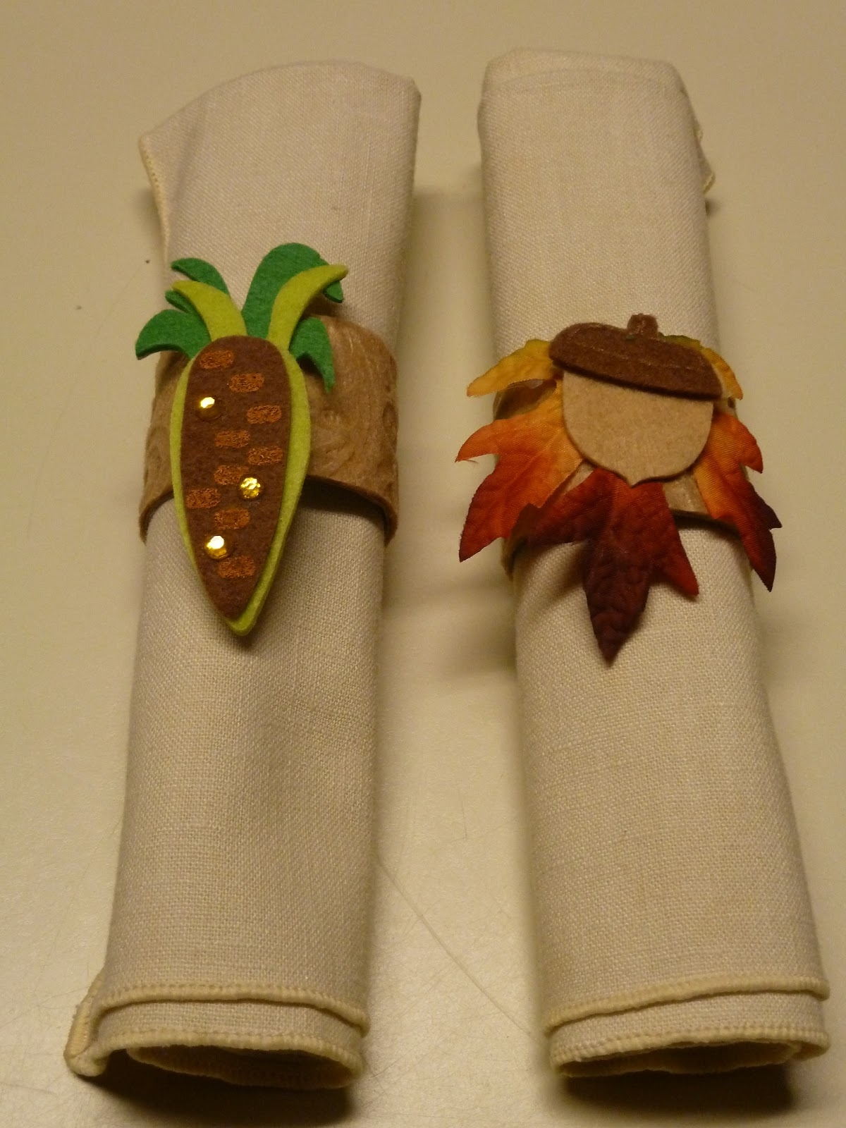 make it easy crafts easy recycled kid s craft fall napkin rings