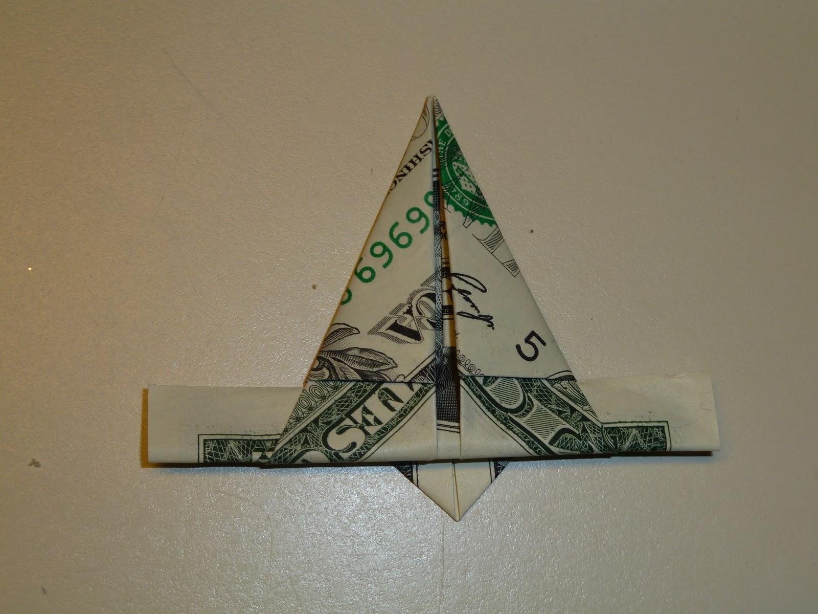 Origami 5 pointed star choice image craft decoration ideas make it easy crafts easy money folded five pointed origami star back of point jeuxipadfo choice jeuxipadfo Images