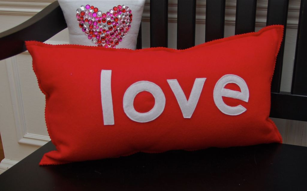 Cute Love Pillows : First Lady of the House: Valentine Pillows