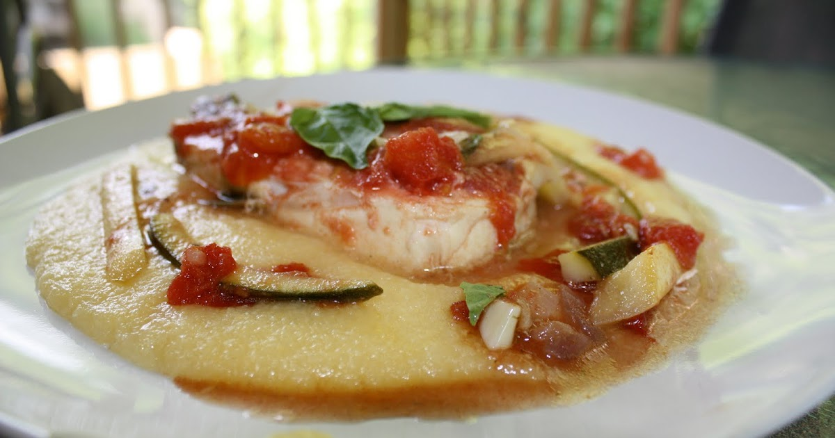 Chow and Chatter: Halibut in a Basil and Tomato Sauce over ...