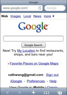 Google Search for iPhone 3.0