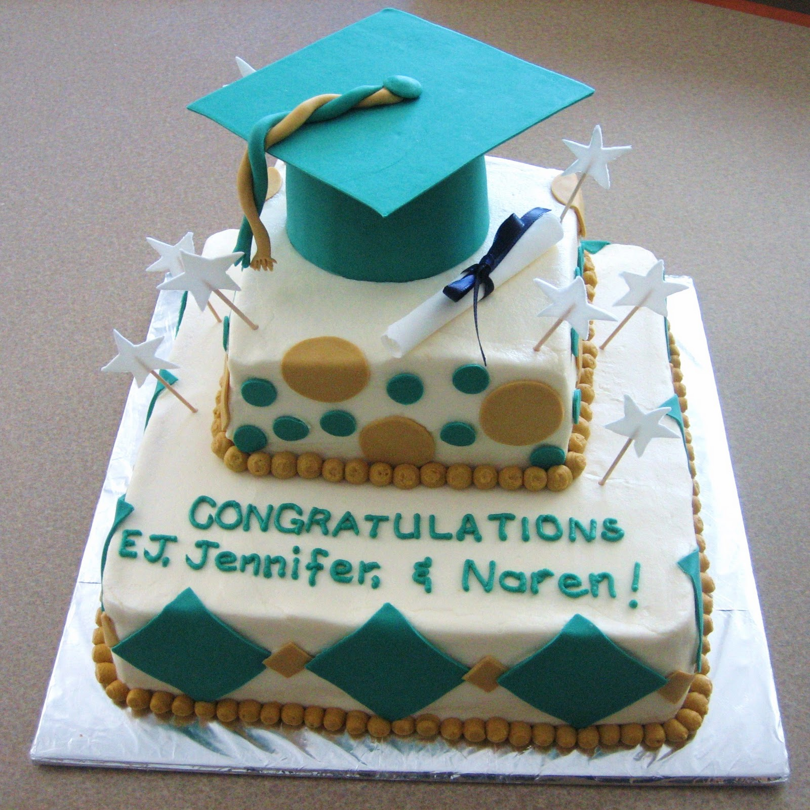 Images Of Graduation Cake : Striving for Confection Perfection: UNCC Graduation Cake