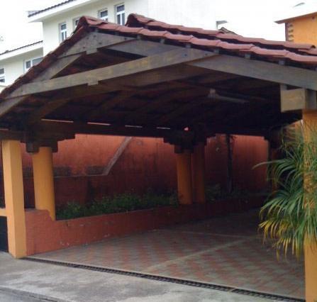 Techos de madera for Techos de teja para terrazas