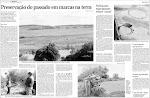 """""""Preservação da história em marcas na terra"""" texto de Taline Schneider no jornal Diário Popular"""