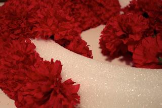 Faux Carnation Wreath in progress
