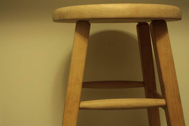 Refinished Wooden Stools Feathering My Nest
