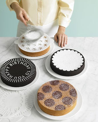 stencil on cake