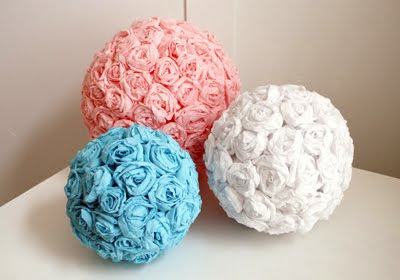 crepe paper flowers